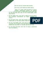 directions for social studies brochures