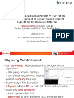 Interfacing Matlab and v-Rep | Simulation | Matlab