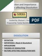 Dissolution basic= Tushar