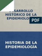 DESAROLLO HISTORICO DE LA EPIDEMIOLOGIA