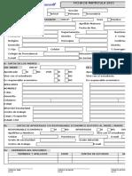 Ficha de Matricula Prescott Simple 2015