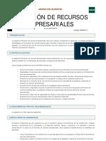 11_EMPRESARIALES_Guía de la asignatura 1