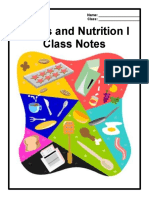 foods i-notes packet