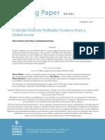 Is Gender Diversity Profitable?