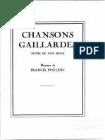 Poulenc Chansons Gaillardes