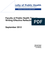 FPH Tips on Writing Effective Reflective Notes