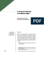 El servicio de referencia en al biblioteca digital