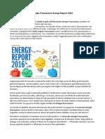 Giorgio Fraccastoro Energy Report 2016