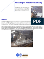 Comparison of Metalizing vs Hot Dip Galvanizing