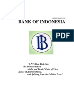 BANK OF INDONESIA CRISIS HANDLING