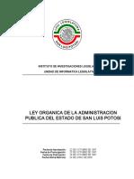 Ley Organica de La Administracion Publica Del Estado de San Luis Potosi