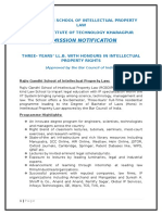 Rgsoipl Llb & Llm Admission- 2016