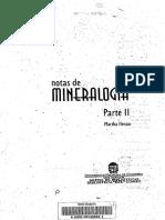 Mineralogía Sistémica.