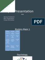 majors presentation