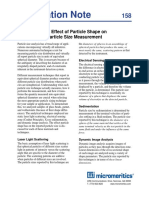 The Effect of Particle Shape on Particle Size Measurement