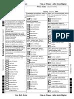 GOP Precinct 1264 Ballot
