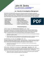 Investor Security Protection Management in Washington DC Resume John Stroka