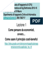 Principio Costi Benefici