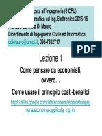 Principio Costi Benefici