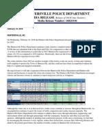 HPD 2015 Crime Statistics - Media Release