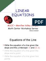 Linear Equations Print