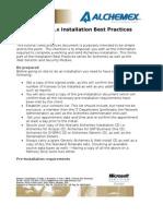 Alchemex Install Best Practices
