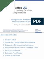 Percepción del servicio de la Defensoría Penal Pública