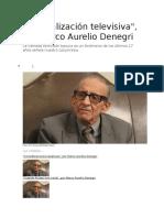 Basuralización televisiva - Marco Aurelio Denegri