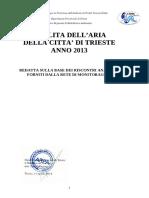 Relazione Qualita Aria Ts 2013