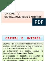 Unidad v Macroeconomia Capital,Inversion y Ahorro