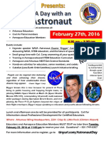 day with astronaut flyer - ae workshop