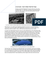 A Long-Term Survival Guide - How to Make Tidal Fish Traps
