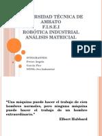 análisis matricial - ROBOTICA