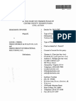 Spanier vs Freeh Complaint With Notice