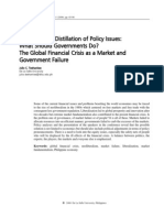 What Should Governments Do? The Global Financial Crisis as a Market and Government Failure