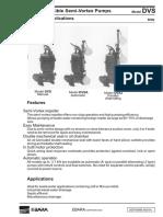 Ebara Pumps Catalog DVS Catalogue