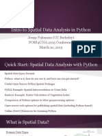 Intro to Spatial Data Analysis in Python - FOSS4G NA 2015