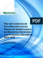 Foro Educativo - Plan de Incidencia