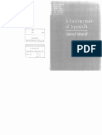 A Grammar of Speech - David Brazil