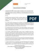 02-12-15 Capacita DIF Hermosillo a Servidores Publicos Municipales en Temas Sobre Discapacidad