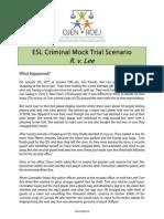 Criminal Mock Trial ESL
