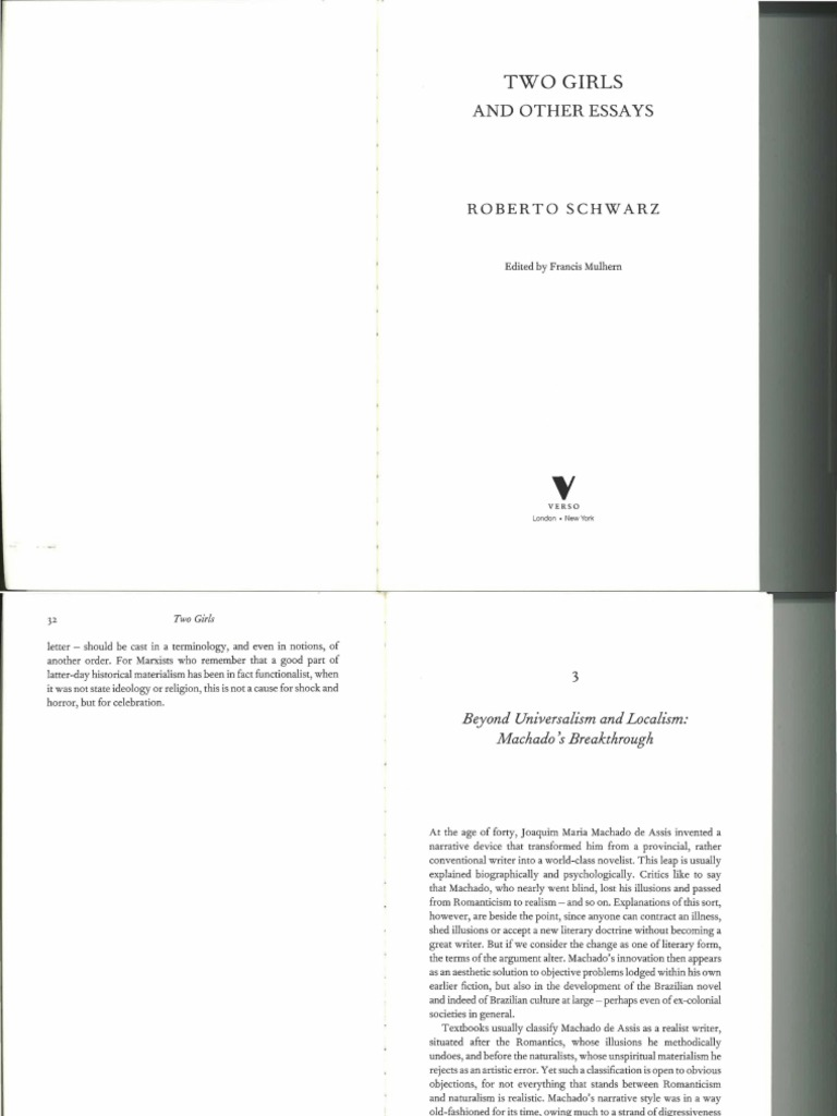 Two Girls And Other Essays Electrical Wiring Diagram For The Es10pc System Array Roberto Schwarz Universalism Localism Realism Arts Romanticism Rh