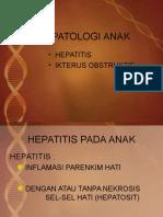 HEPATOLOGI ANAK ttg Hepatitis dan ikterus obstruktif