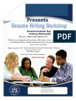 Fake Resume Writing Workshop Template
