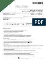 Fcc 2015 Mpe Pb Analista de Sistemas Administrador de Banco de Dados Prova