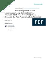 Pengaruh Kompetensi Aparatur Teknik Akuntansi Terhadap Kualitas Laporan Keuangan (Studi Pada Badan Pengelolah Keuangan dan Aset  Pemerintah Kota Makassar)