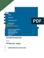 Ethimolog Bhasa Seluruh Indonesia