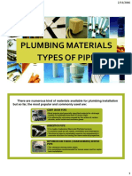 Plumbing Materials (Types of Pipes)