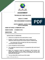 Assignment RMIB Cover