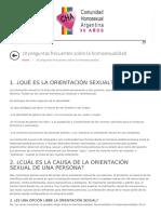 10 Preguntas Frecuentes Sobre La Homosexualidad